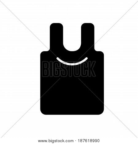 Blank shirt vector icon. Black and white cloth illustration. Solid linear shopping icon. eps 10