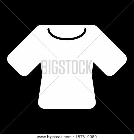 Woman t-shirt vector icon. Black and white shirt illustration. Solid linear clothing icon. eps 10
