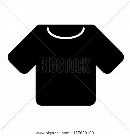 man t-shirt vector icon. Black and white shirt illustration. Solid linear clothing icon. eps 10