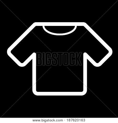man t-shirt vector icon. Black and white shirt illustration. Outline linear clothing icon. eps 10