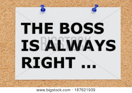 The Boss Is Always Right - Concept