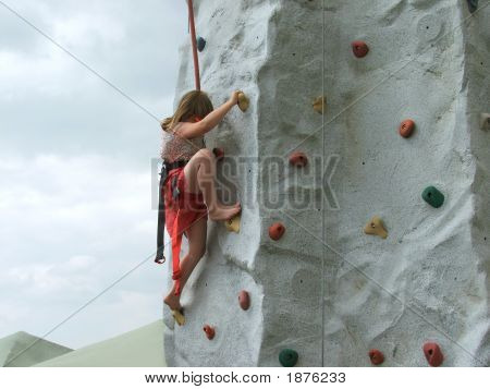 Rock Climbing At The Fair