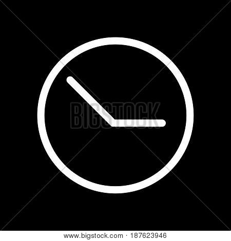 Clock vector icon. Black and white clock illustration. Outline linear time icon. eps 10