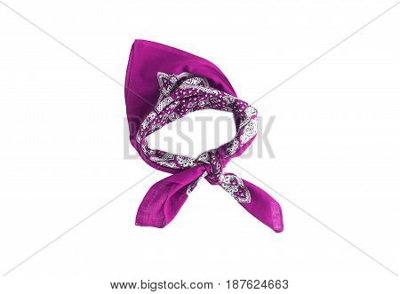 Lilac, Violet, Purple, Manzhenta Scarf, Bandanna, Pattern, Isolated
