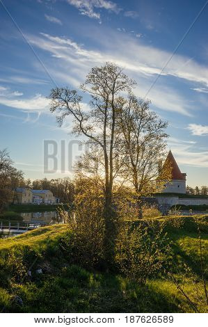 Wonderful springtime morning in Kuressaare town Saaremaa Estonia