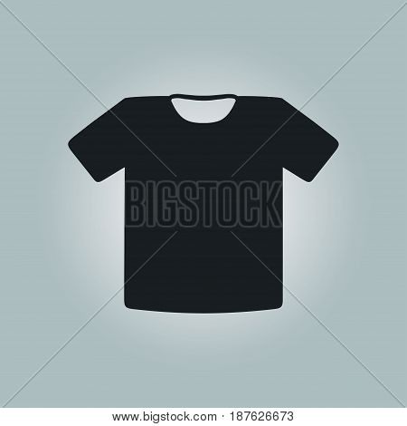 T-shirt sign icon. Clothes symbol. Flat design style.