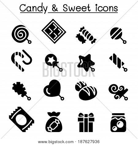 Candy & Sweet icon set  vector illustration graphic design
