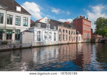 Bruge is a city in Belgium know for it's canals