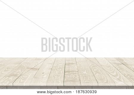 Empty wood table perspective for product placement or montage. Wood table perspective. Wood table surface. Rustic wood table perspective. Large dinner empty wood table perspective. Wood table texture background. Wood table perspective worktop.