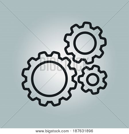 Icon of gears.The development and management of business processes.