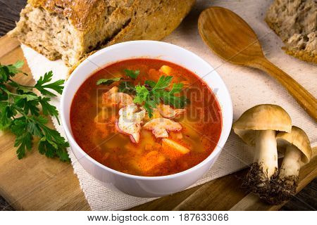 Fresh Mushroom Soup From Calocybe