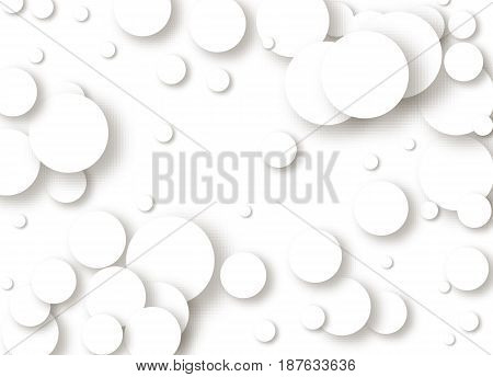 Paper rectangle banner element vector. White background shape shadow design. Graphic abstract circle illustration. Style, geometric, 3d, art modern, bubble decoration, wallpaper business, banner grey, advertise backdrop, pattern, round frame, fashion deco