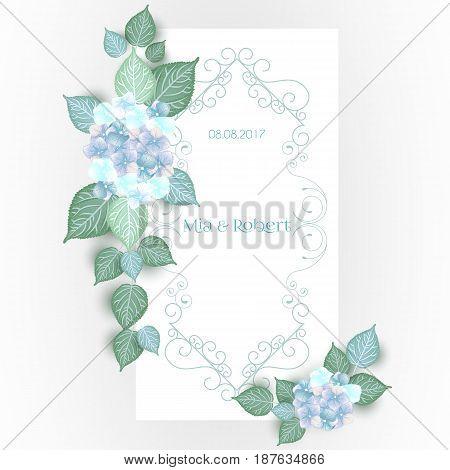 Vintage Flower wedding invitation save the date card