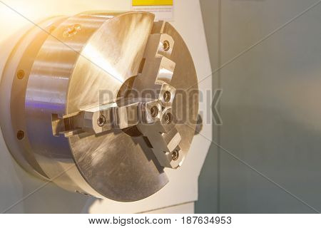 CNC turning spindle and lathe in factory