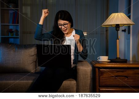 Businesswoman Hands Gesture Fists Raised