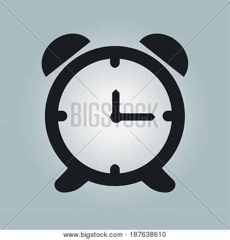 Open hours a day. Clock face. Flat design style.