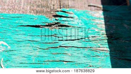 Abstract Texture Of A Piece Of Painted  Wood