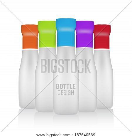 Bottle Vector Design. Mock-up Packages.