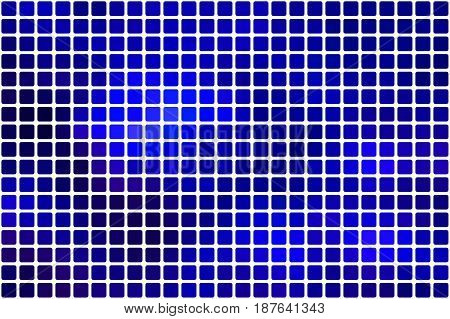 Dark Blue Abstract Rounded Mosaic Background Over White
