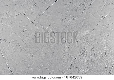 Light grey grunge rough concrete texture wall.