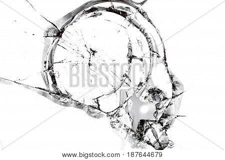 Texture Of Broken Glass