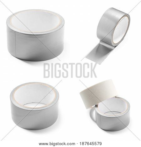 Duct Tape isolated on white. close up