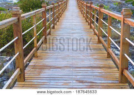 Wooded bridge and turquoise sea, Cayo Largo, Cuba