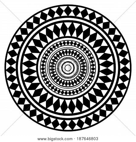 Round ethnic ornament mandala. Can be used for decoration, printing, wedding invitations.