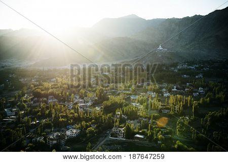 Cityscape Authentic Hindi Mountain Panorama