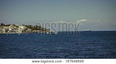 Marina village of Ischia Ponte, splendid island of Naples bay