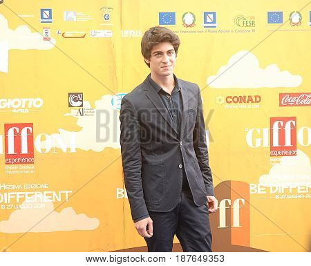 Giffoni Valle Piana Sa Italy - July 24 2014 : Carmine Buschini at Giffoni Film Festival 2014 - on July 24 2014 in Giffoni Valle Piana Italy