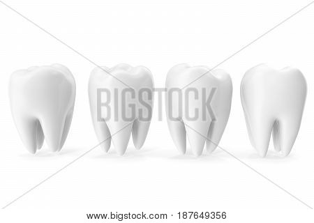 Tooth 3D Dental, medicine and health concept design element. 3D rendering
