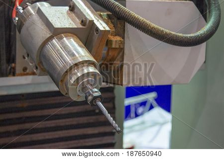 Spindle of CNC milling for wood in factory