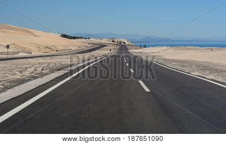 National Road In Nha Trang, Vietnam