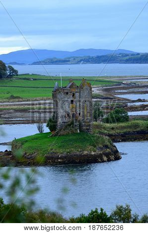 Great views of Castle Stalker in Scotland.