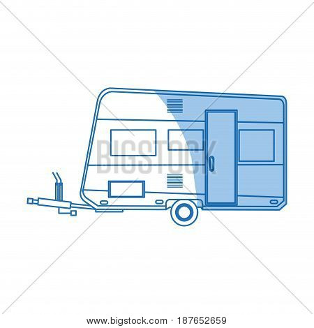 trailer camping vehicle home transport vector illustration