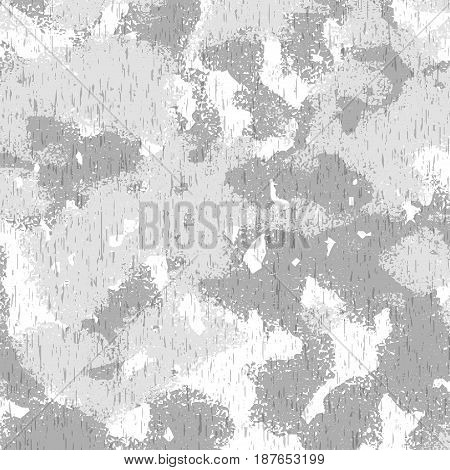 Grey speckled and spoted background. Vector illustration