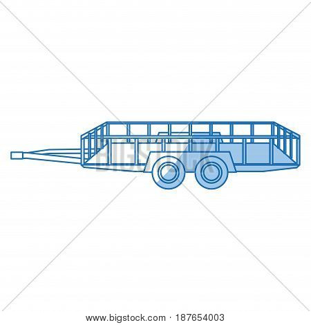 dump trailer cargo transport shipping image vector illustration