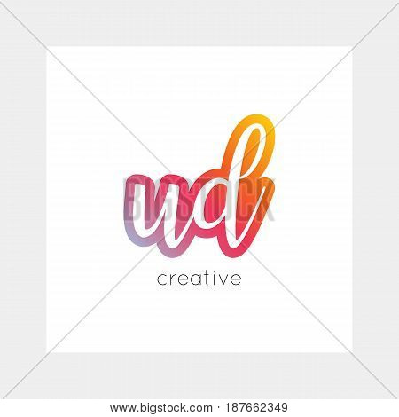 Ud Logo, Vector. Useful As Branding, App Icon, Alphabet Combination, Clip-art.