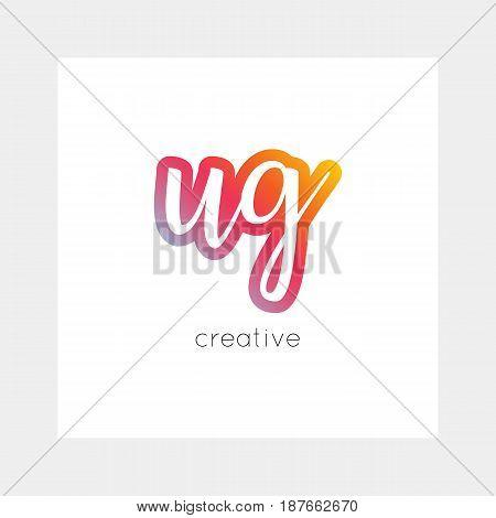 Ug Logo, Vector. Useful As Branding, App Icon, Alphabet Combination, Clip-art.