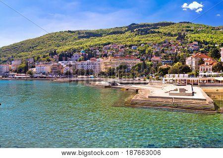Adriatic Town Of Opatija Waterfront Panoramic View