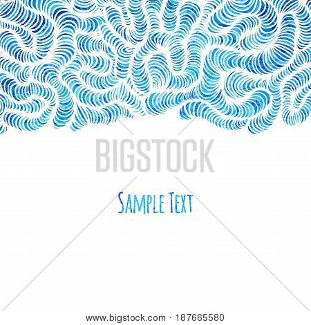 Beautiful card template with wave pattern. Vector illustration