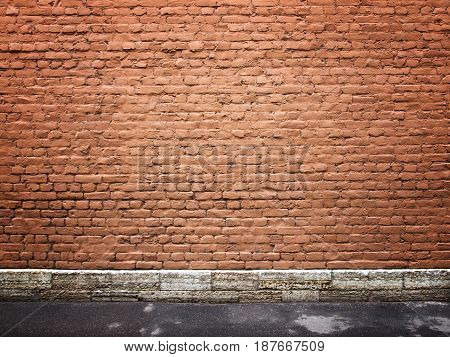 Old brick wall background for design, texture