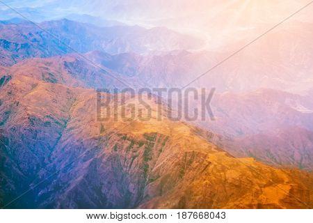 Mountain Range Form The Airplane