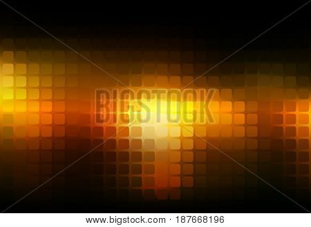 Black Orange Yellow Abstract Rounded Mosaic Background