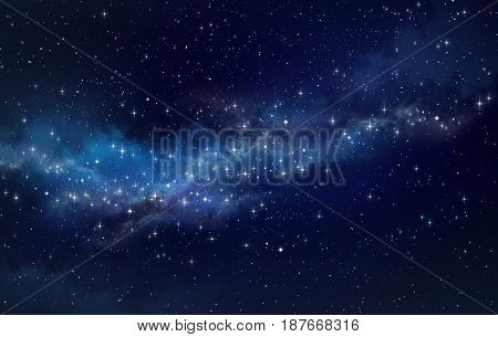 High definition galaxy background bright stars shining in a milky way