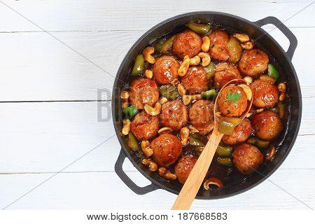 Tasty Turkey Meatballs Smothered In Sauce