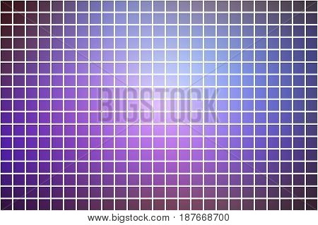 Purple Lilac Pink Square Mosaic Background Over White