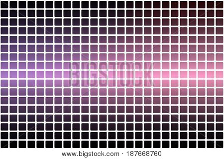 Purple Blue Pink Abstract Rounded Mosaic Background Over White