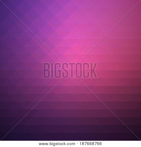 Purple Blue Pink Rows Of Triangles Background, Square